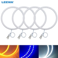 LEEWA 4X120mm 4pcs/Set Car SMD LED Halo Rings Angel Eyes DRL Head Lamp For BMW E30/E32/E34 White/Blue/Yellow #CA4746