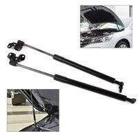 beler 2x Car Black & Silver Metal Front Hood Lid Lift Support Damper Shock Strut Fit for Honda Accord 2003 2004 2005 2006 2007