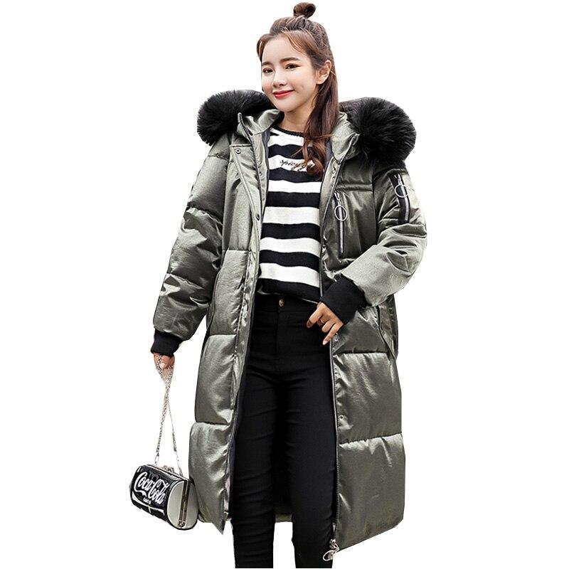 2018 New Winter Women Jacket Hooded Winter   Coat   Women Long Parka White duck   down   jacket Casual Female   down     coats   Plus Size YM943
