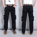 3 Colors Outdoors Male Pants Regular Fitting Long Straight Style Fashion Cargo Pants Men Working Capris MG93
