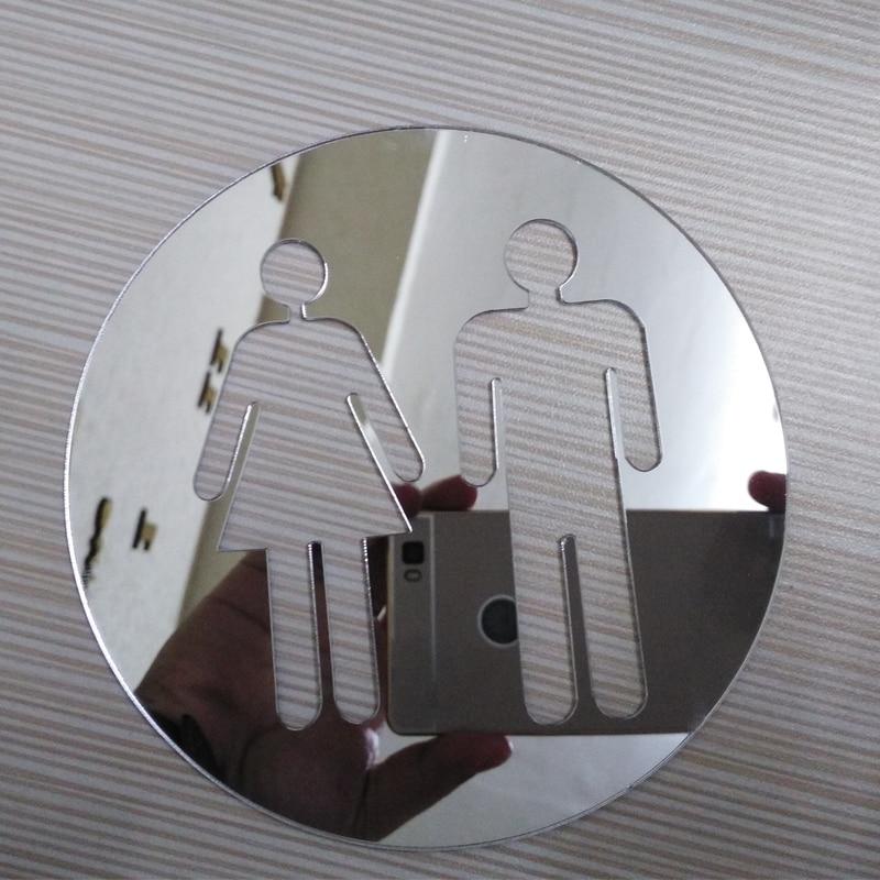 Новинка 2017 3D наклейки 2 мм Туалет Home Decor современный акрил большая зеркальная поверхность стикер DIY настоящее