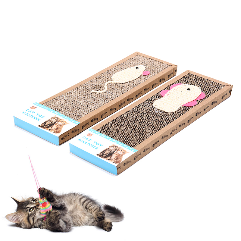 Cattraining Toy Cat Kitten Scratch Board Pad Corrugated Scratcher Soft Bed Mat Claws Care Toys