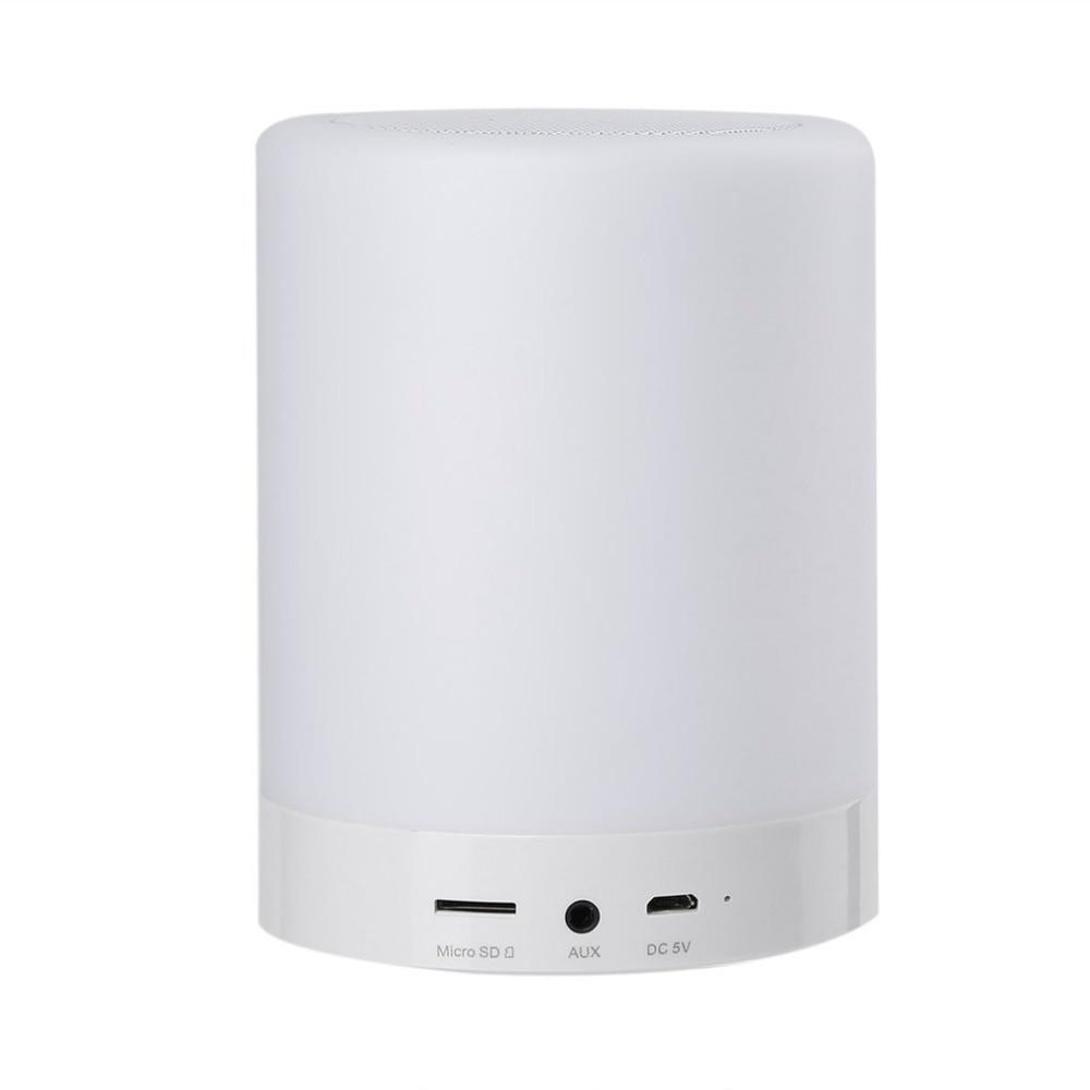 Haut-parleur Intelligent de Bluetooth de contact de haut-parleur portatif de lampe d'humeur avec des lumières mains libres 6 lumières changeantes colorées