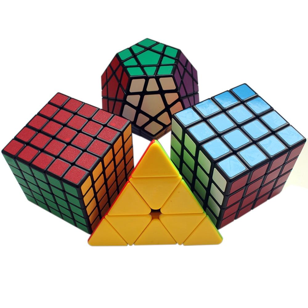 Profissional Cubo Mágico 3*3*3 3x3x3 Velocidade 4x4x4 5x5 QiYi Cubo Megaminx Cubo Neo 4*4*5*5 Cubo Megico 4 com Lubrificante