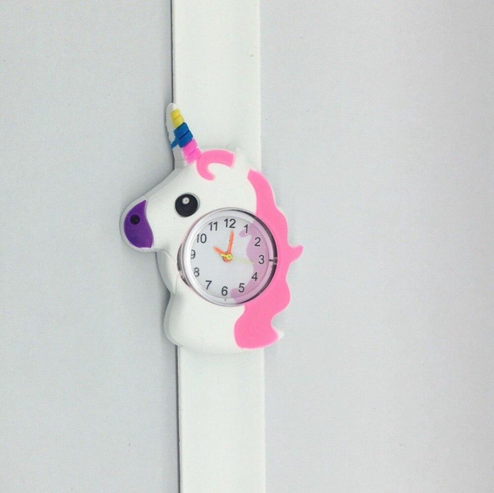 Saatler'ten Çocuk Saatleri'de Moda güzel karikatür 3D desen unicorn tasarım çocuk çocuk saatler toptan kızlar öğrenciler tokat yapış hediye doğum günü saatler'da  Grup 3