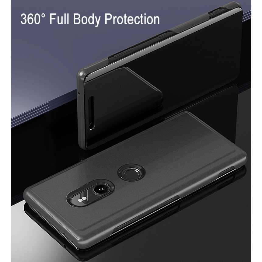 P Smart 2019 прозрачный зеркальный чехол для Huawei P8 P9 P10 P20 P30 Lite 2017 Коврики 10 20 x lite pro Honor 10 9 8X 7C Y6 Y7 Y9 флип-кейс