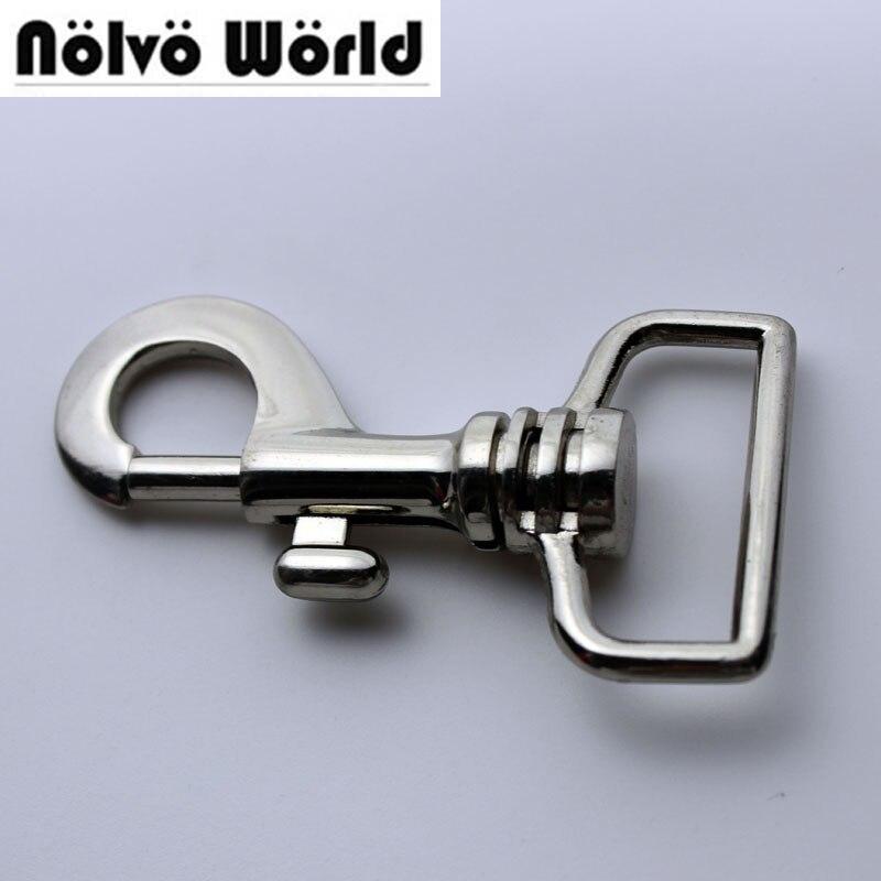 20pcs Silver Finished Snap Hook 7.5*3.2cm 1.2 Inch Metal Zinc Hardware For Handbag Hanger Swivel Hooks
