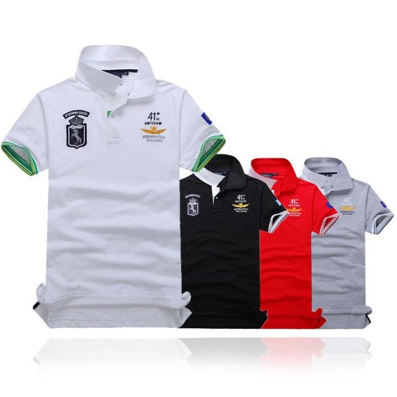 summer new men's boutique embroidery breathable 100% cotton   polo   shirt Men's lapel Leisure Slim Business   polo   shirt size M-XXXL