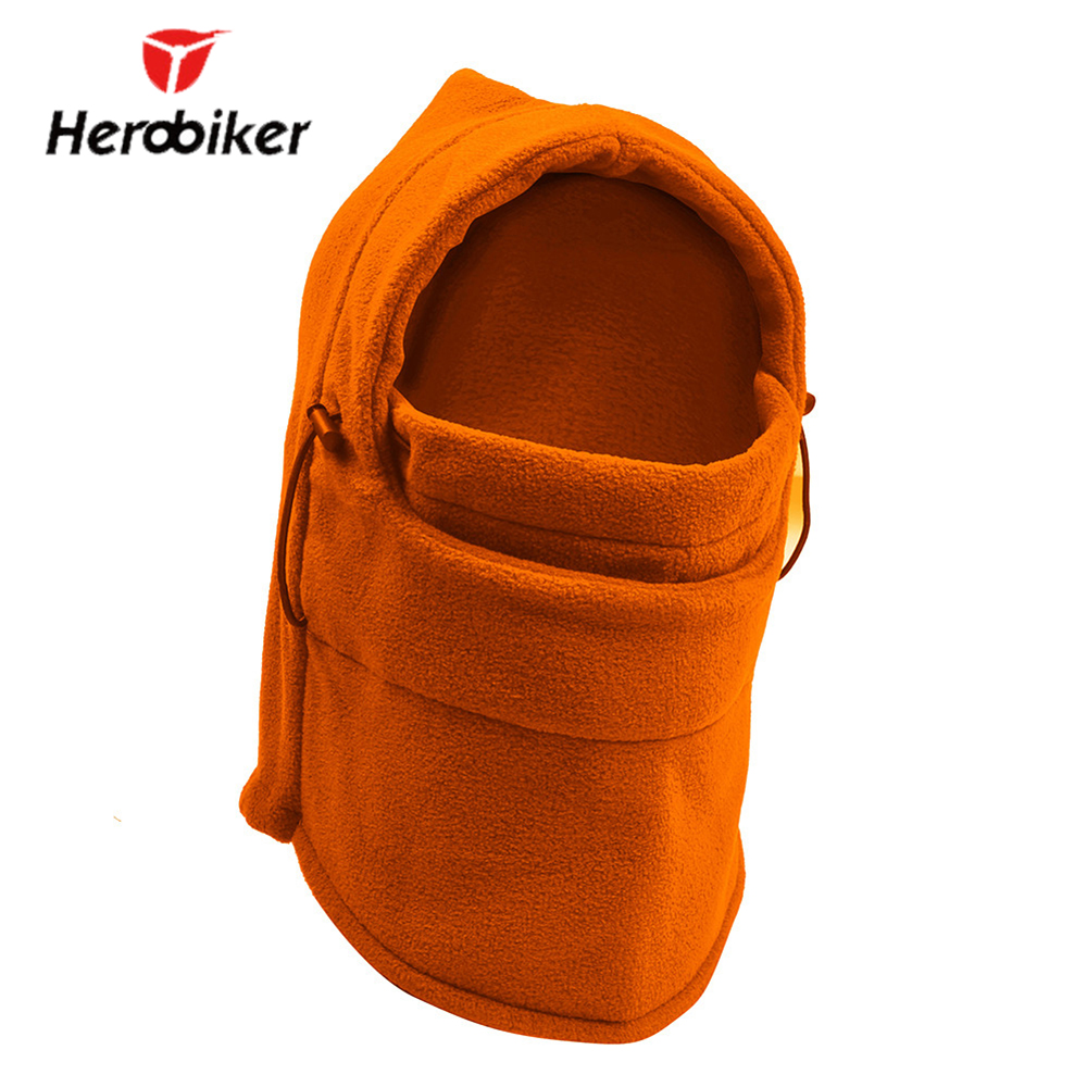 HEROBIKER Motorcycle Face Mask Thermal Fleece Balaclava Motorcycle Ski Snowmobile Face Shield Full Face Mask Under Helmet Hat все цены