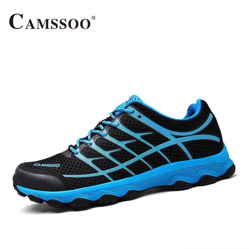 Camssoo Men Running Shoes High Quality Lace-Up Platform Sneakers Men Light Brand Trail Shoes AA40372