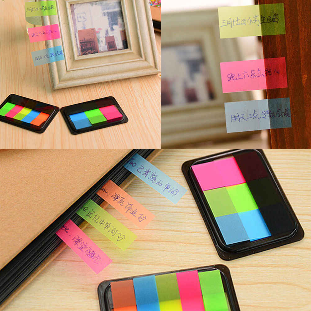 Hot Sticker Bookmark Marker Memo Flags Index Pad Tab Sticky Notes Label Student Supplies