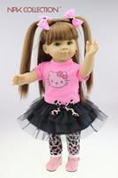 Nuovo Commercio All'ingrosso American Girl Bambola Del Bambino di Stile Viaggio Ragazza Dollie & me Fashion Reborn Doll Toys For Girls