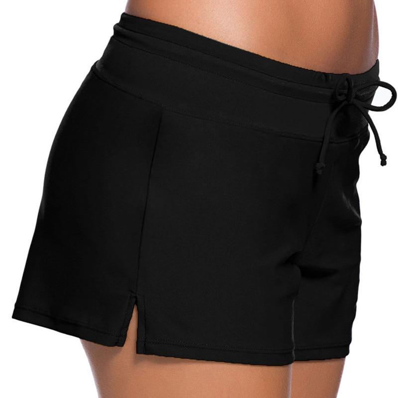 5194b5a9308 Μαύρες γυναίκες κολυμπούν Boardshort καλοκαιρινές μαγιό Beachwear ...