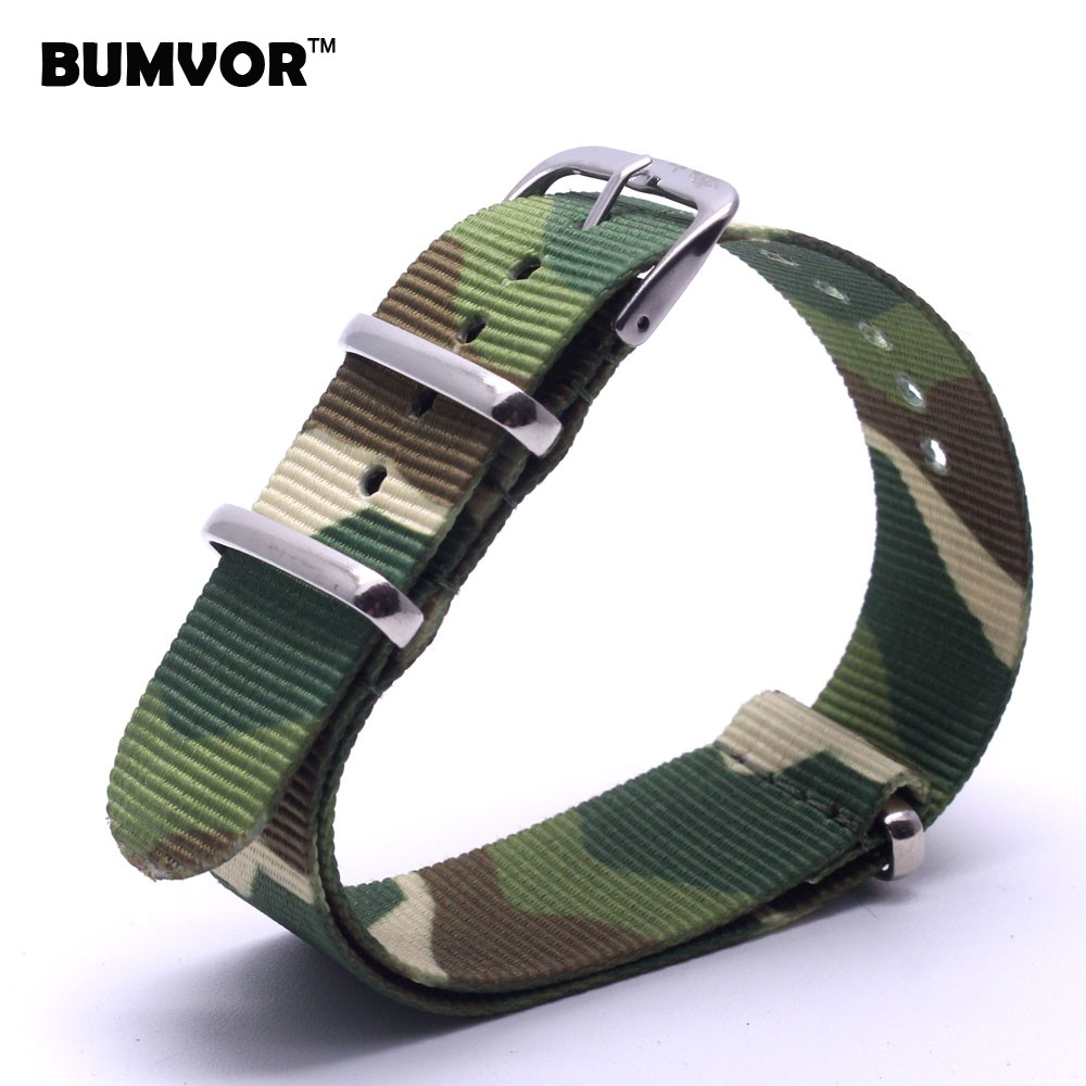 купить New 2014 Watch Classic 18 mm bracelet Camouflage Army Military nato fabric Woven Nylon watchbands Strap Band Buckle belt 18mm по цене 128.53 рублей