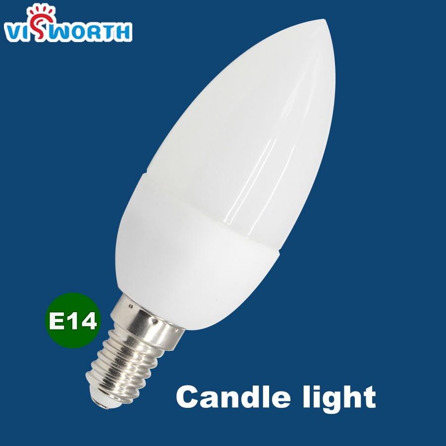 VisWorth 3W 5W Led Candle Light Bulb E14 Warm Cold White Ac 110V 220V SMD2835 Vintage Filament Lamp For Chandelier Lighting led gold deco chandelier bulbs candle light e14 85 265v 5w lamps