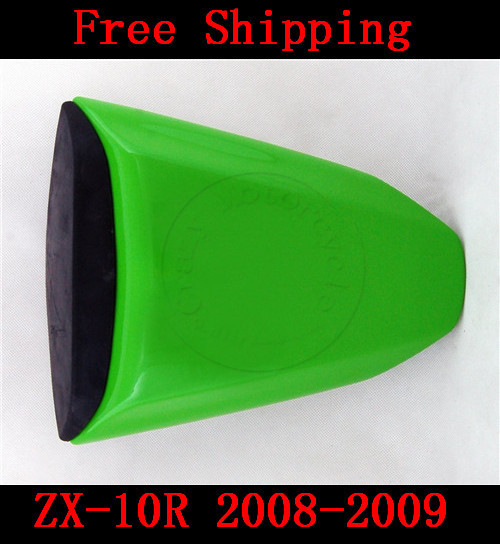 For Kawasaki ZX10R ZX 10R 2008-2009 motorbike seat cover Brand New Motorcycle Green fairing rear sear cowl cover Free Shipping for 2009 2014 kawasaki zx6r zx 6r 636 motorcycle rear passenger seat cover cowl green black 09 10 11 12 13 14