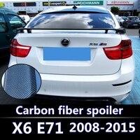 Для BMW X6 E71 спойлер Высокое качество углеродного волокна заднего Спойлеры крылья авто аксессуары 2008 2009 2010 2011 2012 2013 2015