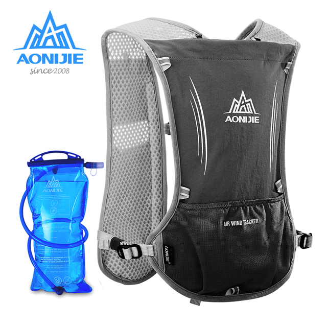 bc1a340126 AONIJIE 5L Women Men Marathon Hydration Vest Pack Running Backpack with  1.5L Water Bag Cycling Hiking Bag Outdoor Sport Backpack