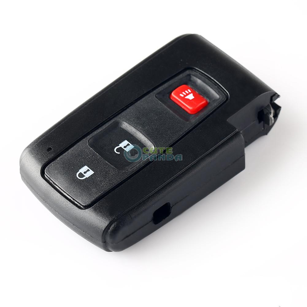 For toyota prius 2004 2009 smart key remote fob case key shell 2 1
