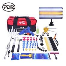 PDR Aluminum LED lamp Tools Set Auto Body Repair Pops a Dents Removing Dents Hand Tools