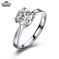 Free Shipping 100 Real 925 Sterling Silver Jewelry 6 5 6 5mm Simulated Sona Diamond Engagement
