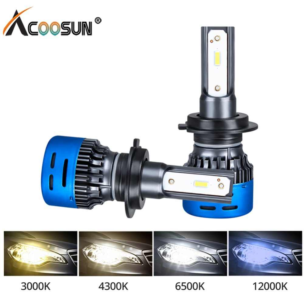 AcooSun LED H7 H4 LED Car Headlight Bulbs 12V LED Car 6500K 4300K 3000K 12000K Bombillas H1 H11 H8 H9 9005 9006 Auto Headlamp
