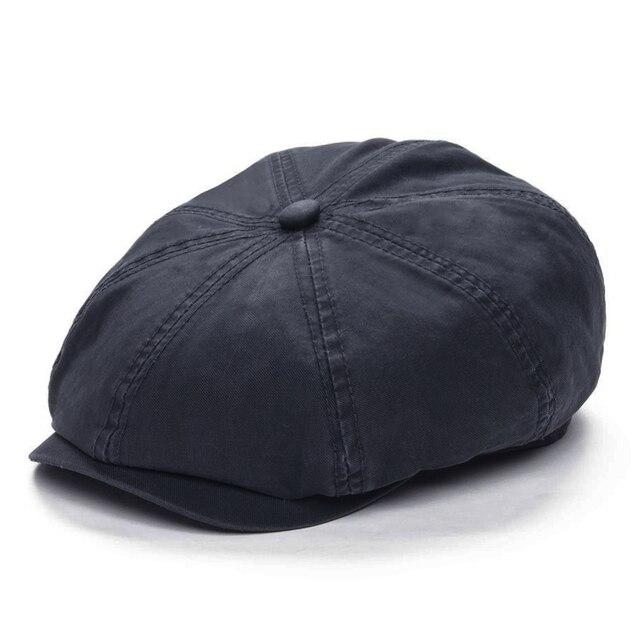 4b4cb2ba60b90c VOBOOM Gray Cotton Newsboy Cap Men Flat Ivy Cap 8 Panel Beret Caps Retro  Vintage Boina Cabbie Driver Hat 145