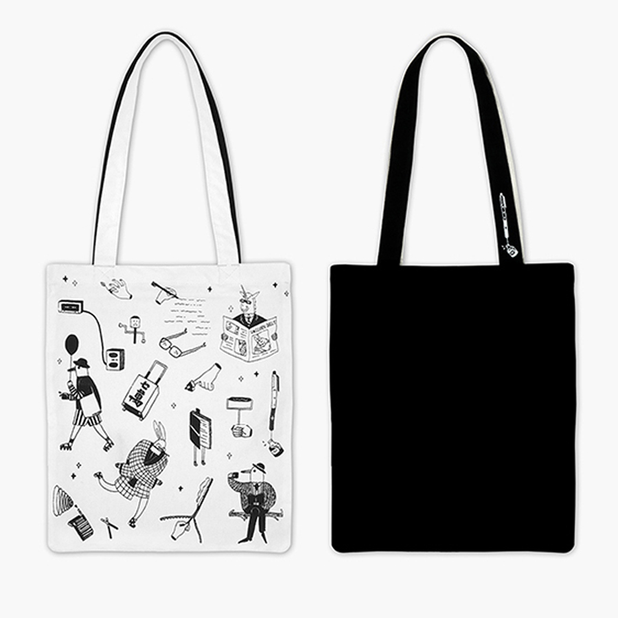 MOREUSEE original cotton shoulder bags unisex in RIDDLES series(FUN KIK)