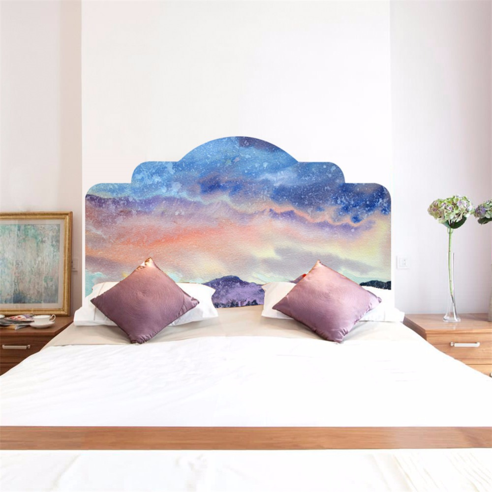Bed Headboard Us 24 98 Yanqiao Galaxy Solar System Wall Stickers Bed Headboard Bedroom Living Room Decor Peel And Stick Mural Art Decal Self Adhesive In Wall