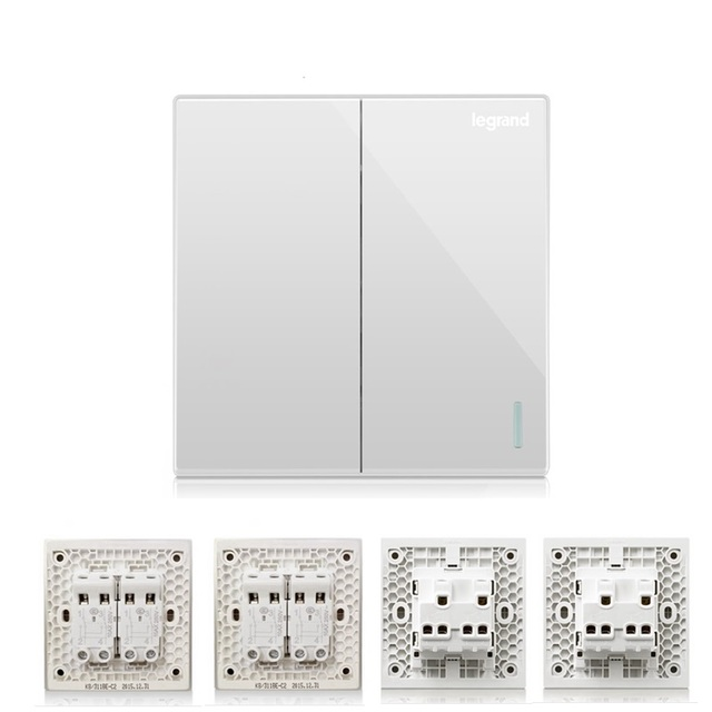 High Quality 2 Gang 4 Way Wall Switch Kit Large Panel Magnolia