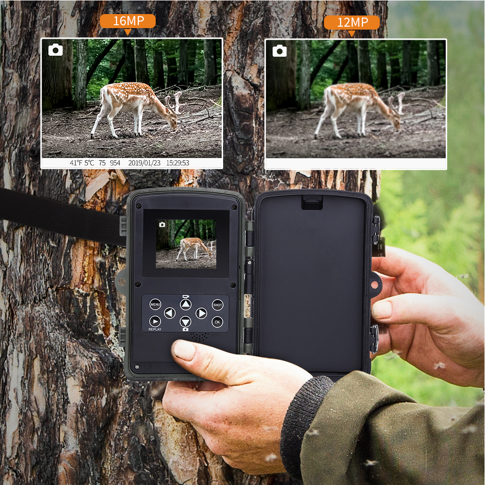 Image 4 - BOBLOV Hunting Trail Camera Night Version Wild Cameras 16MP 1080P IP65 Photo Trap 0.3s Trigger Wildlife Camera Surveillance-in Hunting Cameras from Sports & Entertainment