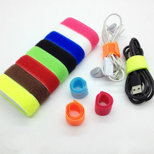 50pcs computer management cable ties /cable to receive tie-line/ set Winder with wiring harness/8 colors can be selected