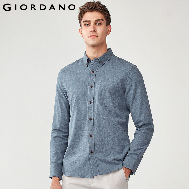 100% Cotton Long Sleeve Casual Men's Shirt