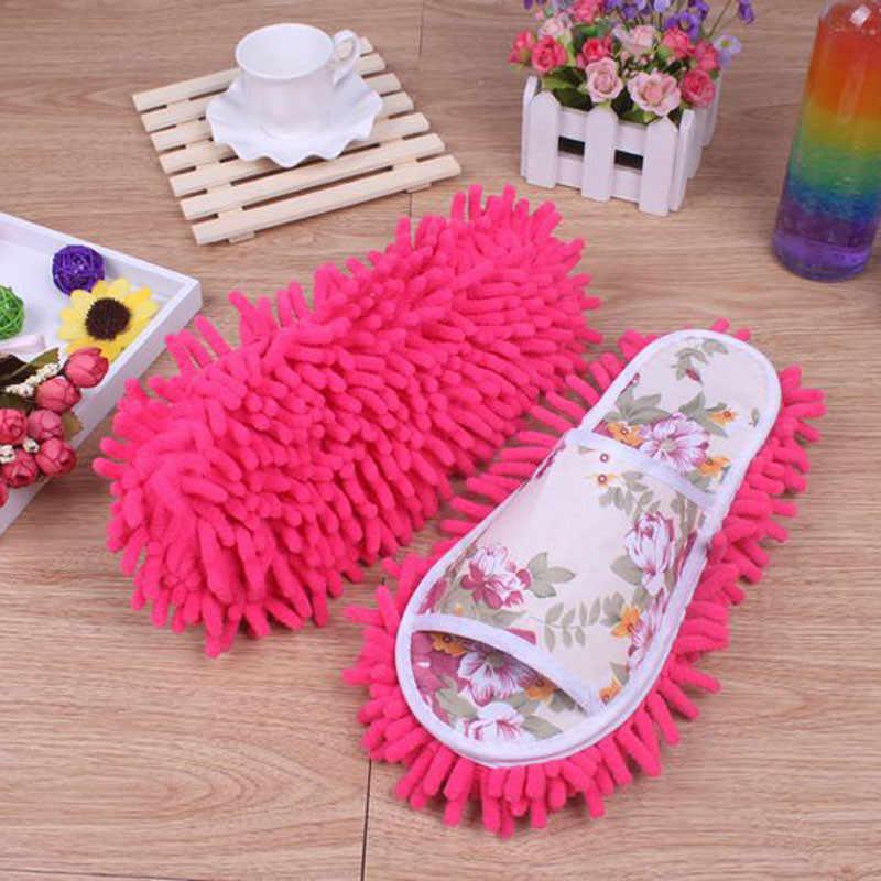 Boden reinigung hausschuhe mikrofaser mop reinigung schuhe faul damen staub hausschuhe hause schlafzimmer bad schuhe