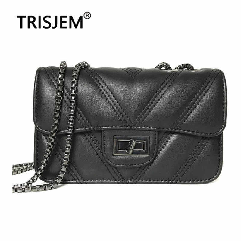 Female Fashion Chain Flap Crossbady Bag for Women High Quality PU Leather Women's Shoulder Bag 2019 Famous Brands Black Bags