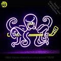 Sport Club DRW Octopus Neon Zeichen neon lampe licht Zeichen glas Rohr Handwerk Kommerziellen Ikonische Neon licht Helle Farbe Characteri