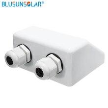 1 шт. ABS материал белый цвет солнечная панель на крышу кабельный ввод двойной кабель Сальниковая Коробка Для караван лодки