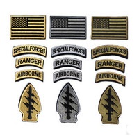 BZ0049 3D 3Colors 5PCS Set SPECIAL FORCES RANGER AIRBORNE Military Tactical Embroidered Patch Badge Embroidery Patch