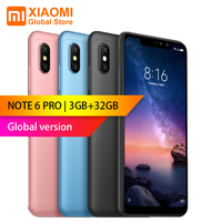 Global version Xiaomi Redmi Note 6 Pro 3GB 32GB 6.26 inch FHD+ Snapdragon 636 Octa core 12MP+5MP Dual camera 4G Smartphone