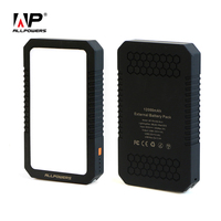 ALLPOWERS Newest Portable 12000mAh Power Bank External Battery Pack With SOS Flashlight Dual USB For IPhone