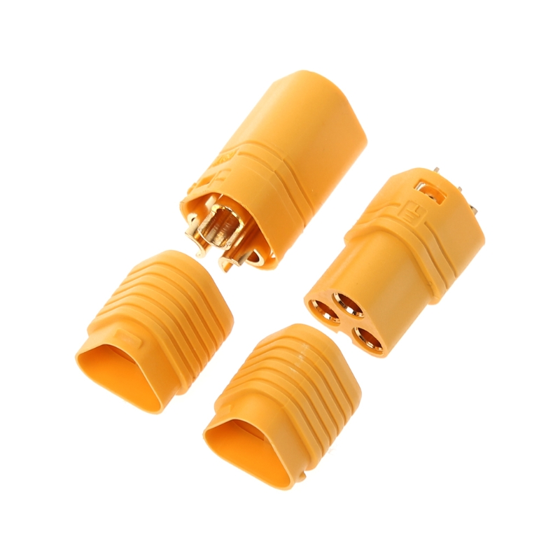 1 Pair MT60 <font><b>3.5mm</b></font> 3 Pole <font><b>Bullet</b></font> Connector <font><b>Plug</b></font> Set For RC ESC to Motor image