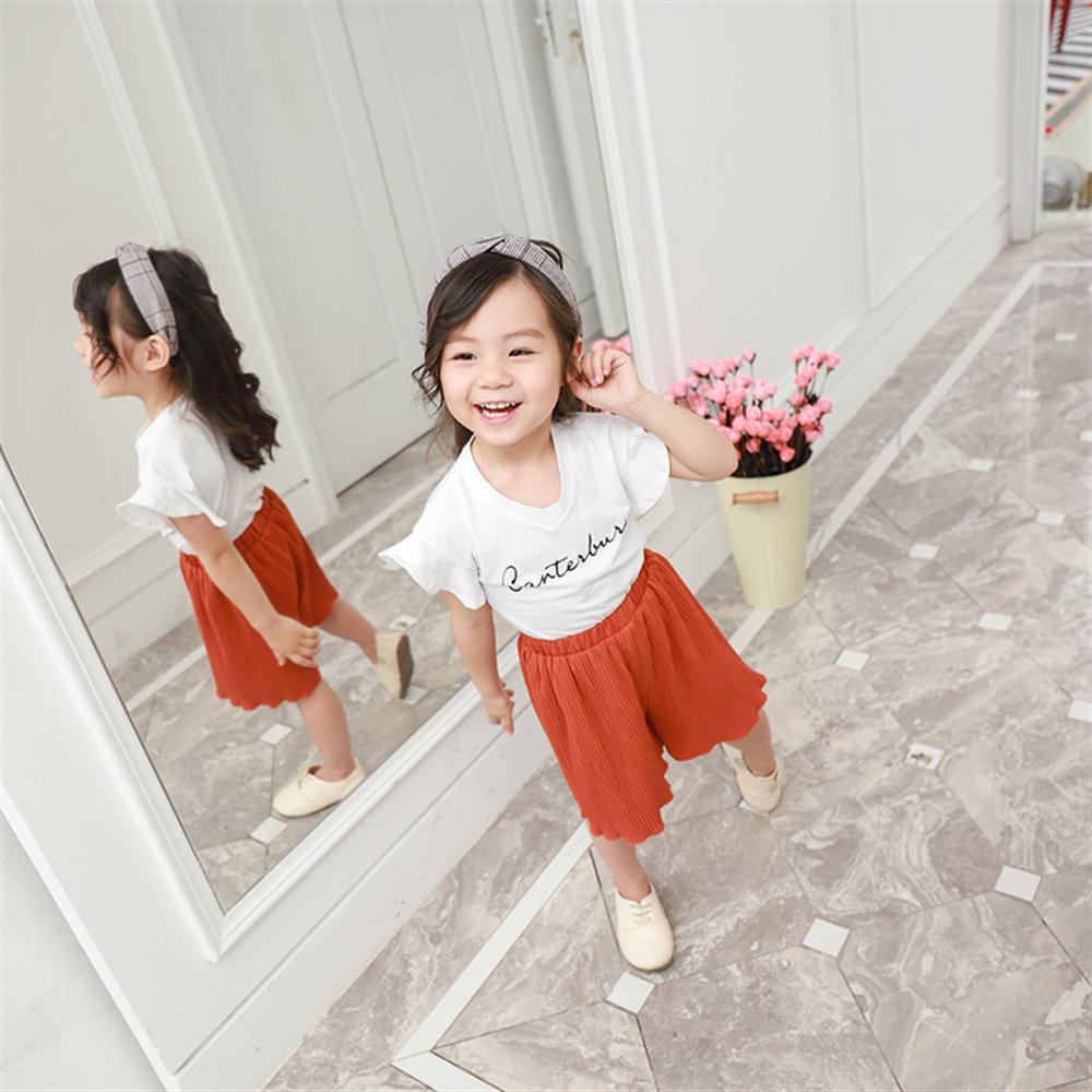 Zomer meisjes kleding sets nieuwe mode katoenen witte t-shirts + - Kinderkleding - Foto 3
