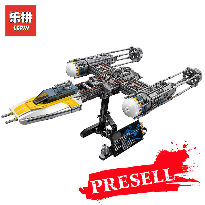 05143 2203Pcs Lepin Star Wars Series The 75181 New Y-wing Starfighter Set Model Building Blocks Bricks DIY Toys Children Gifts