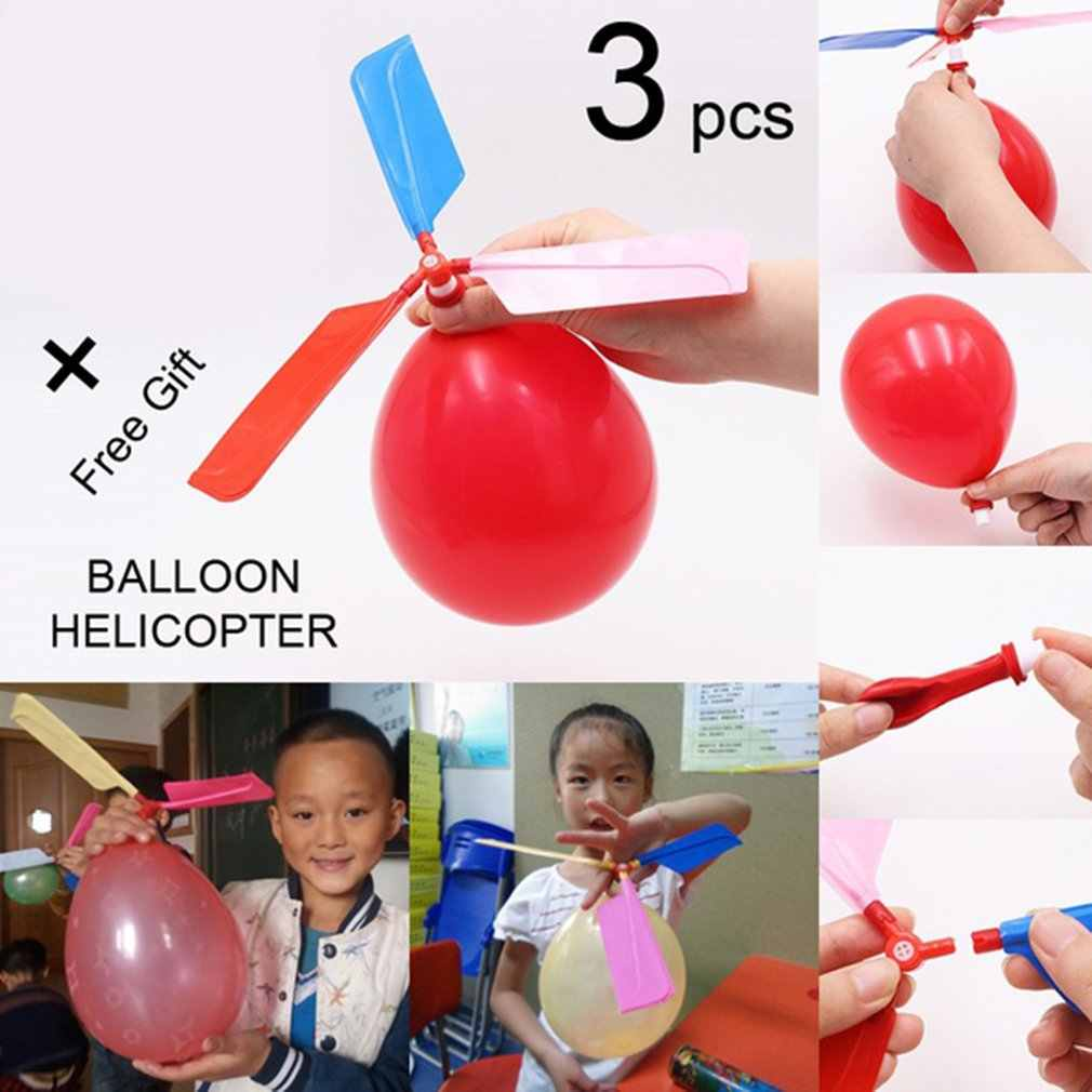 3 Pcs Funny Classic Helicopter Balloon for Parent-Child Interaction Flying Toy Games Children Birthday Event Party Supplies