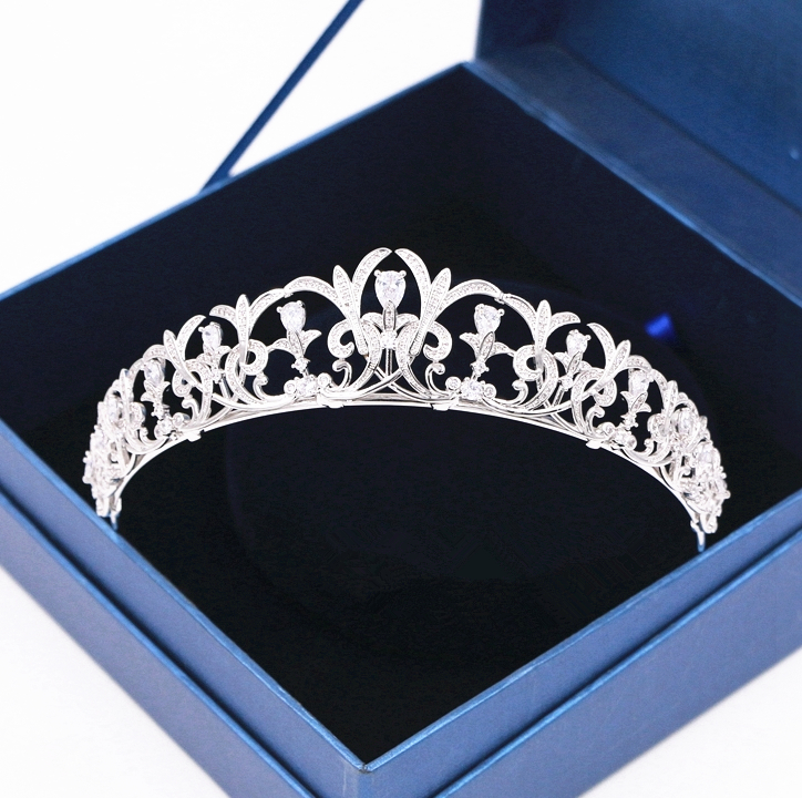 Full Zircon Tiara Headband CZ Crown Jewelry Bride Headpiece Wedding Hair Accessories Headbands Bijoux Cheveux WIGO1271 popupshop шорты popupshop модель 2625475