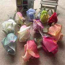 2PCS European rose  simulation decoration flower bud silk wedding arches wall photography props material