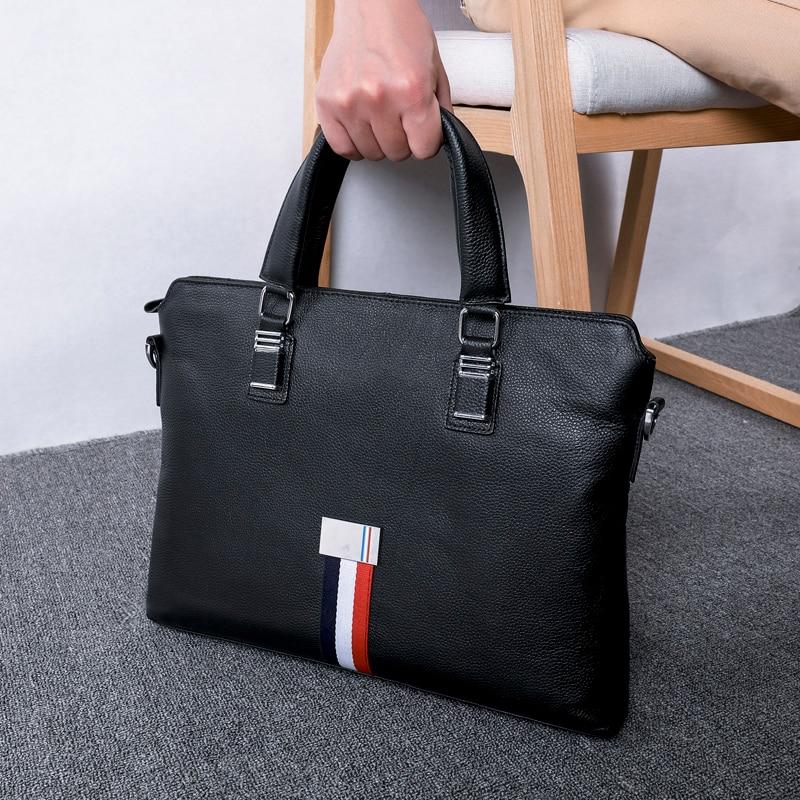 BAQI Brand Men Briefcase Bag Men HandBags Genuine Cow Leather Man Computer Business Bag 2019 Fashion Shoulder bags Messenger Bag