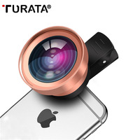 TURATA HD Phone Lens 2 in 1 Fisheye Lens Super 0.45X Wide Angle+15X Macro Clip Kit Fish Eye Lens for iphone Samsung Huawei LG
