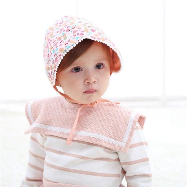 0068c00257168 Bnaturalwell bébé fille Bonnet photographie impression Prop nordique  Vintage enfant en bas âge coton Bonnet chapeau