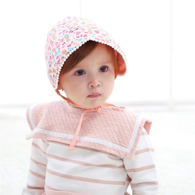 Bnaturalwell Baby Girl Bonnet Photography printing Prop Nordic Vintage Toddler Cotton Beanie hat Retro Kids Christening Cap H823